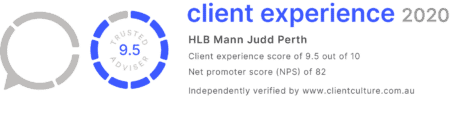 Client Experience Score 2020 HLB Mann Judd Perth